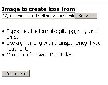 Image to create icon