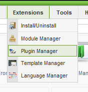 joomla plugin menu